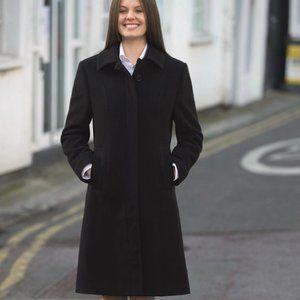 Fairweather Long Wood Coat black buttons